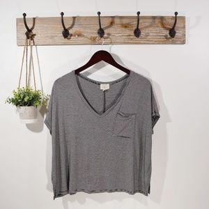 PST PROJECT SOCIAL T Stripe S/S Tee Shirt Top L